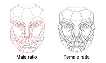 Facial golden ratio